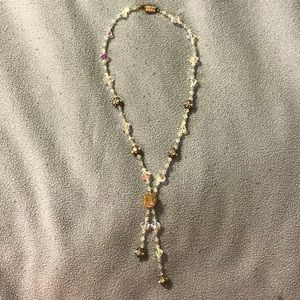 Costume Necklace with iridescent crystals & stones